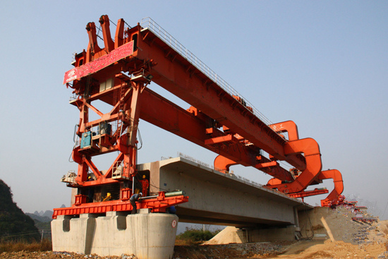 吉林白山160吨架桥机租赁